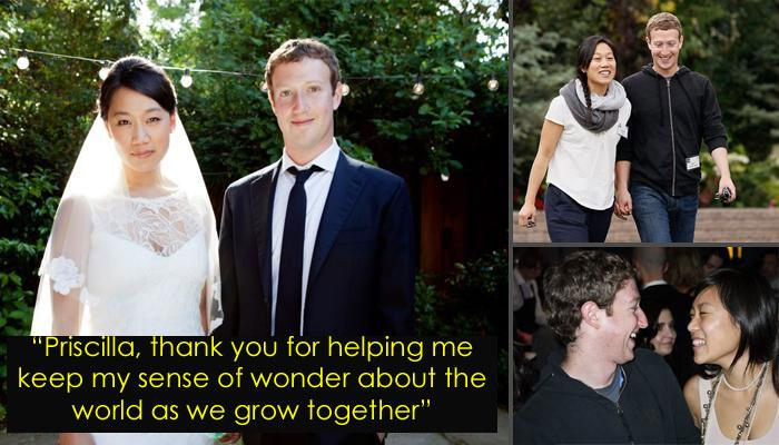 Facebook founder with his wife Priscilla
