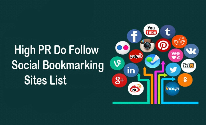 High PR Dofollow Social Bookmarking Sites List