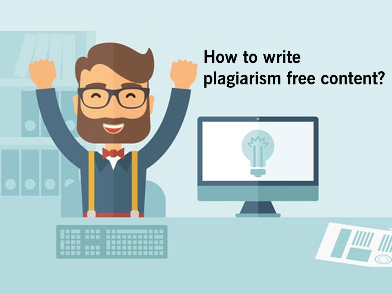 plagariasm free content